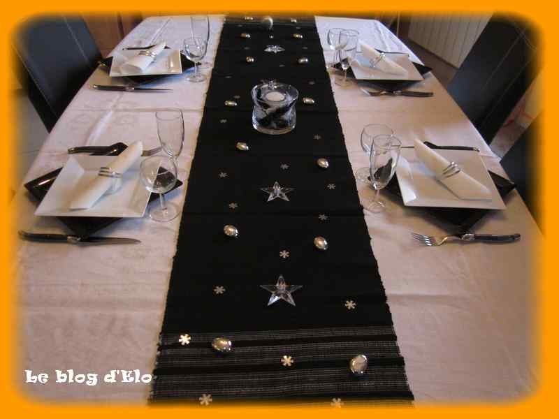 Le blog d 39 elo d co de table un 31 chic for Decoration lumignon 8 decembre
