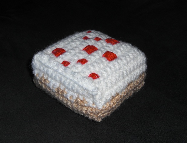 Free Crochet Patterns For Minecraft : draadjes blog: Free Pattern: Minecraft Cake