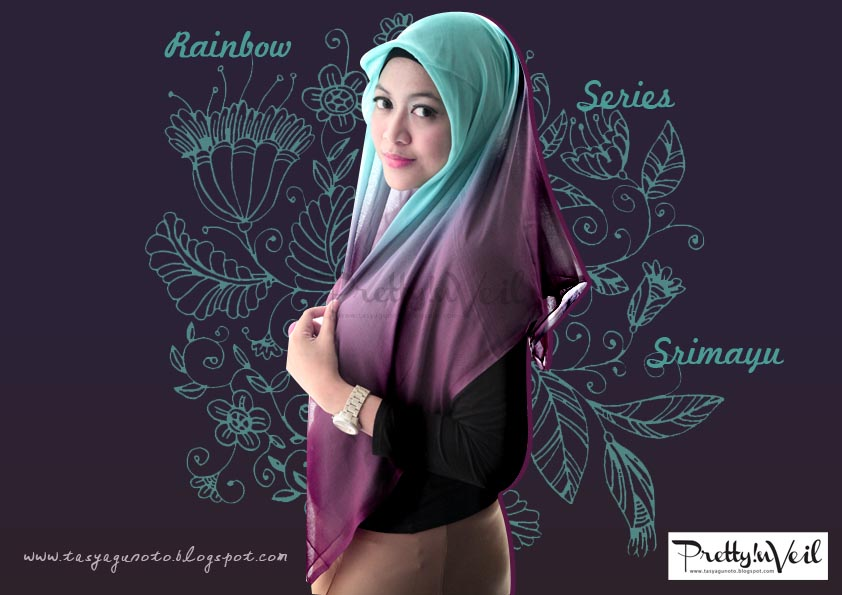 Port Of Tasya: New Rainbow Jilbab Paris Segi Empat