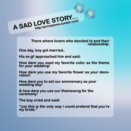 Short Sad Love Quotes : true love couple sad story
