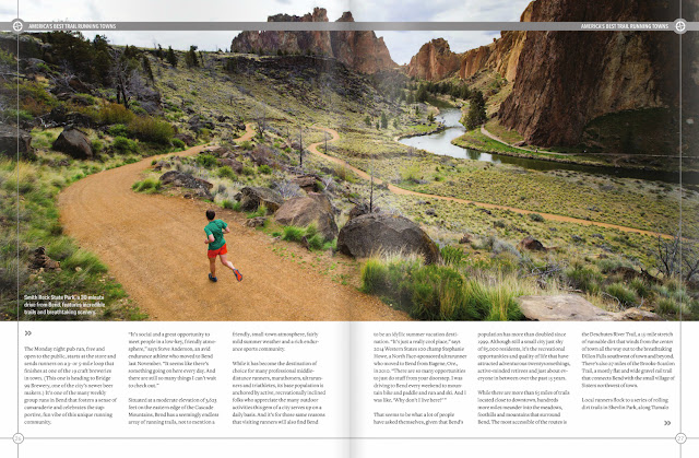 Smith Rock Trail running entrance in Oregon.