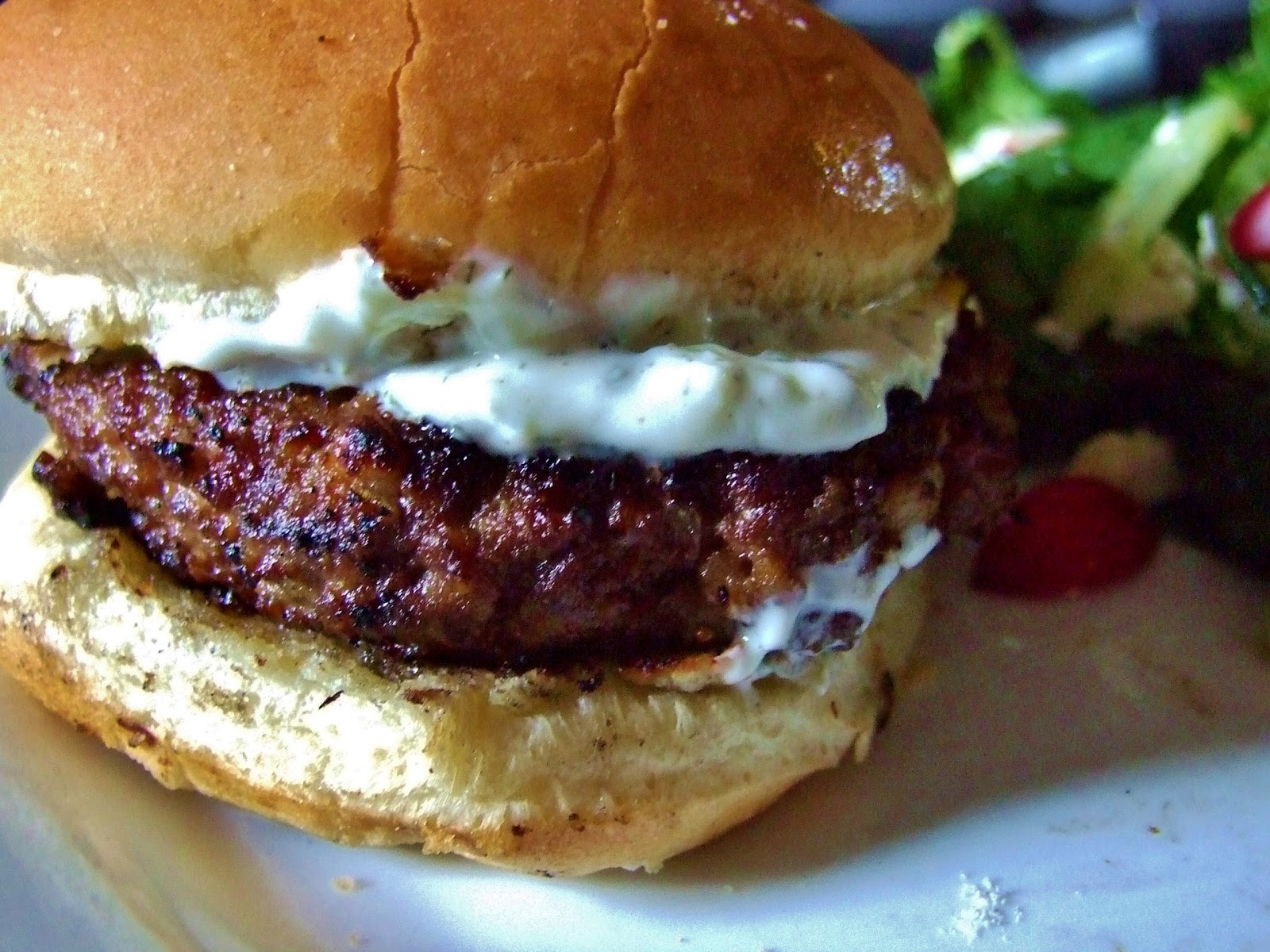 Guest Blogger-Greek Feta Burgers from Running with the ...