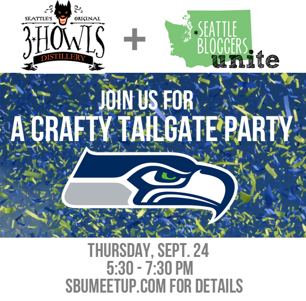Join me and Seattle Bloggers Unite at 3 Howls Distillery for a #Seattle #Seahawks Crafty Tailgate Party! We'll be drinkin' and craftin' and getting you ready for football season!