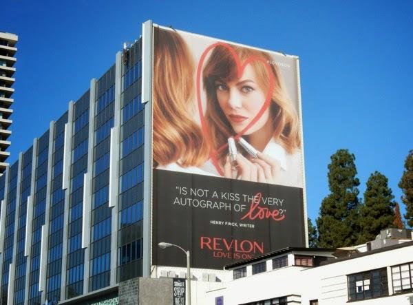 Giant Emma Stone Revlon Love is on billboard