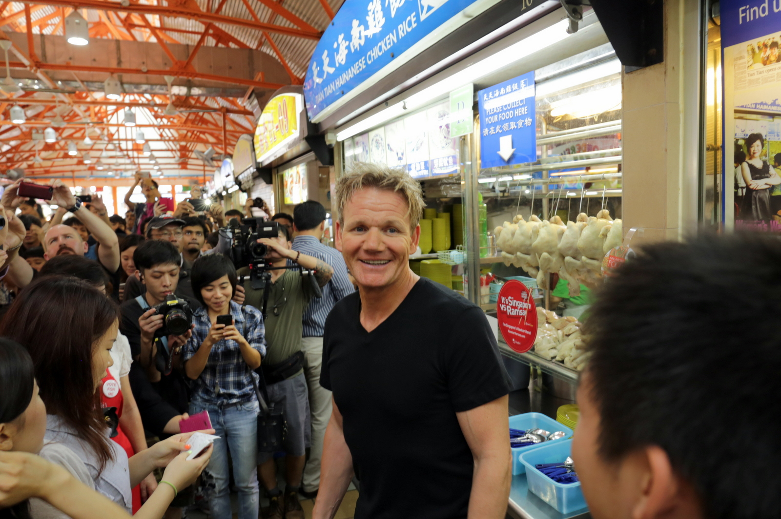 Gordon Ramsay In Singapore For Singtel Hawker Heroes Challenge  Day 1:  Visiting Tian Tian Chicken Rice