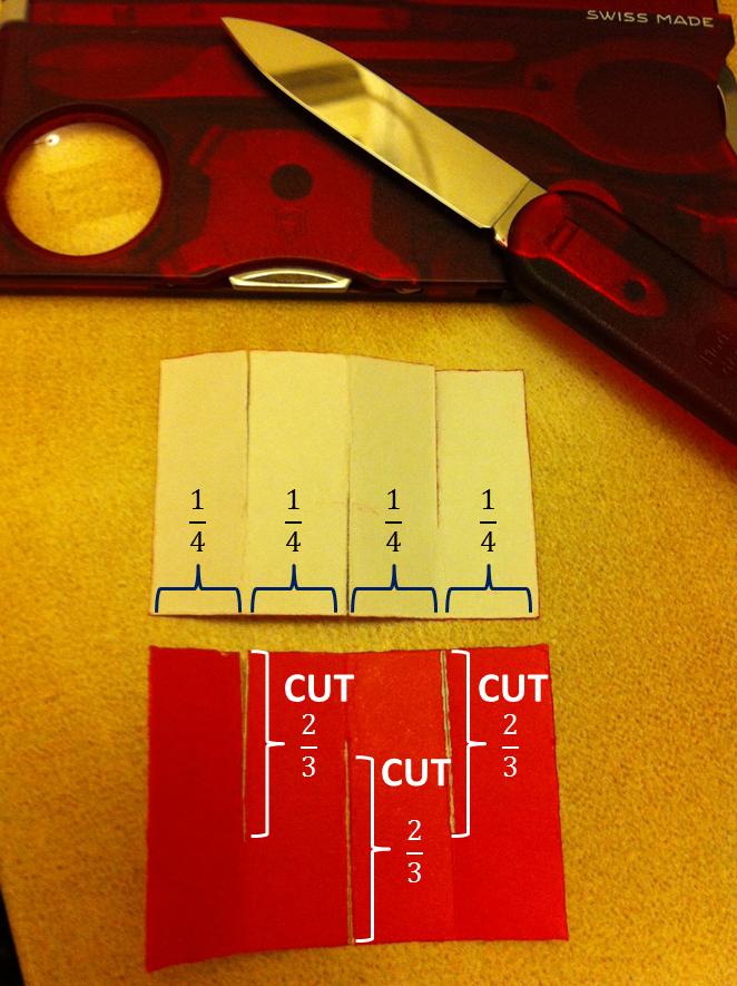 すべての折り紙 折り紙 鏡餅 折り方 : 2.切込みを入れ、折ります。