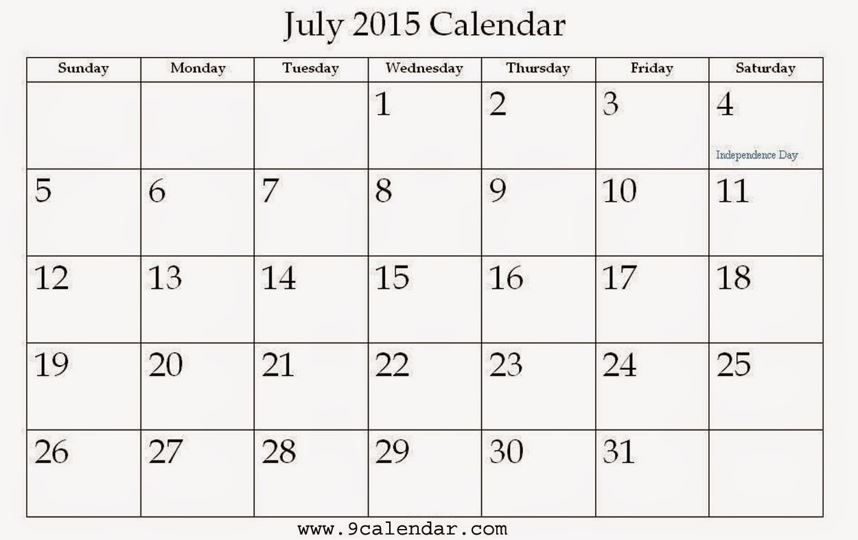 Calendar Design July : Free printable calendar july