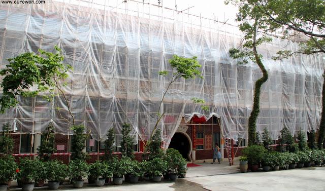 Edificio administrativo de Po Lin en obras