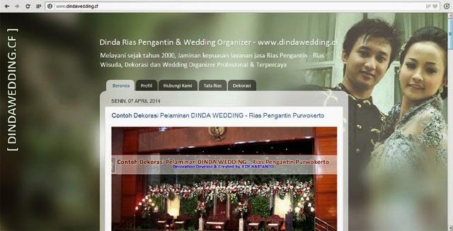 www.dindawedding.cf - Rias Pengantin & Dekorasi Purwokerto - Welcome