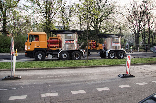 Baustelle Straßenbauarbeiten, Lübecker Straße / Turmstraße, 10559 Berlin, 03.04.2014