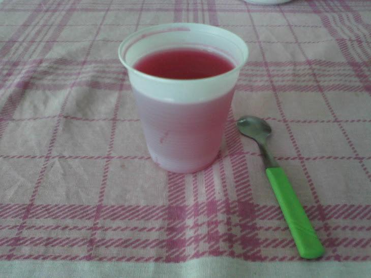 sobremesa gelatina de morango normal