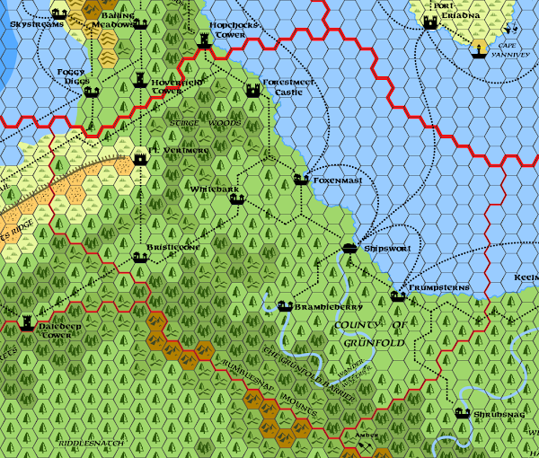 Mystara Alphatia Foresthome Grunfold map