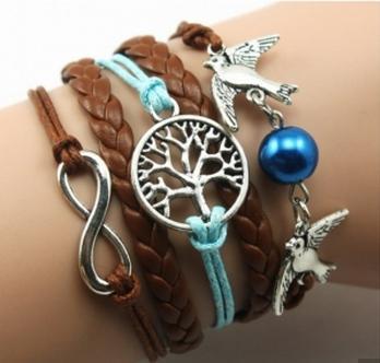 bracelet-dresslink-avis-mode-shopping-bleu-infinity