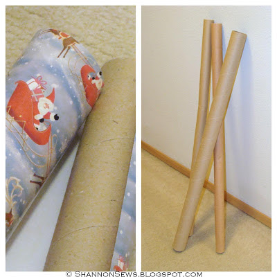Fit empty wrapping paper tubes snugly into place to act as vacuum attachment