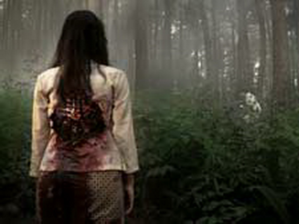 Sundel Bolong dalam mitos hantu Indonesia, di gambarkan dengan wanita ...