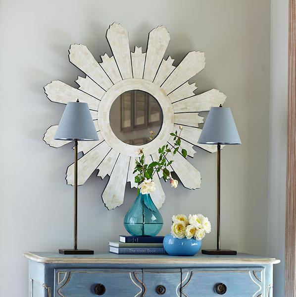 Sunburst Mirror for Home Decor: Wisteria