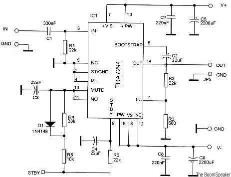 TDA7294 Amplifier Circuits