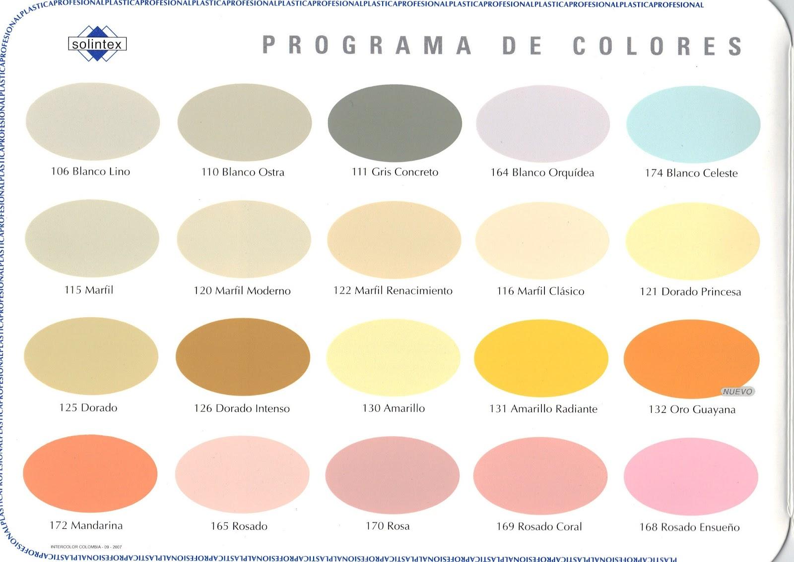 Metalpro c a pintura caucho solintex for Catalogo de colores de pinturas