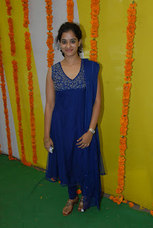 Nanditha Latest Blue Sleeveless Salwar Kameez High Resolution Pictures at New Telugu Movie Opening