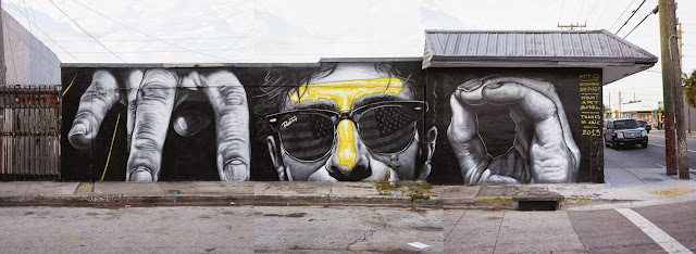 New Street Art Mural By MTO for Art Basel 2013 On The Streets of Miami, Wynwood. 3