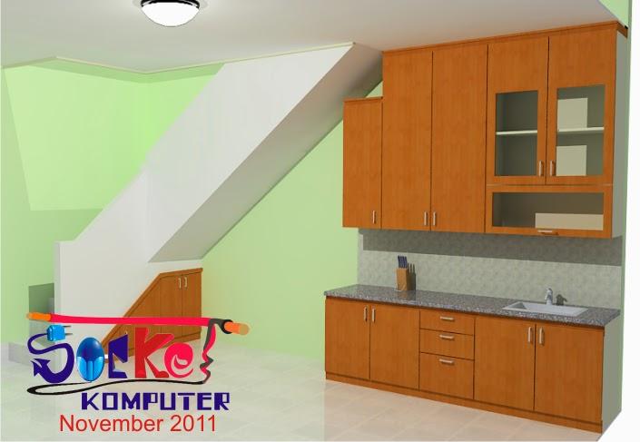 perancangan interior desain dapur bawah tangga
