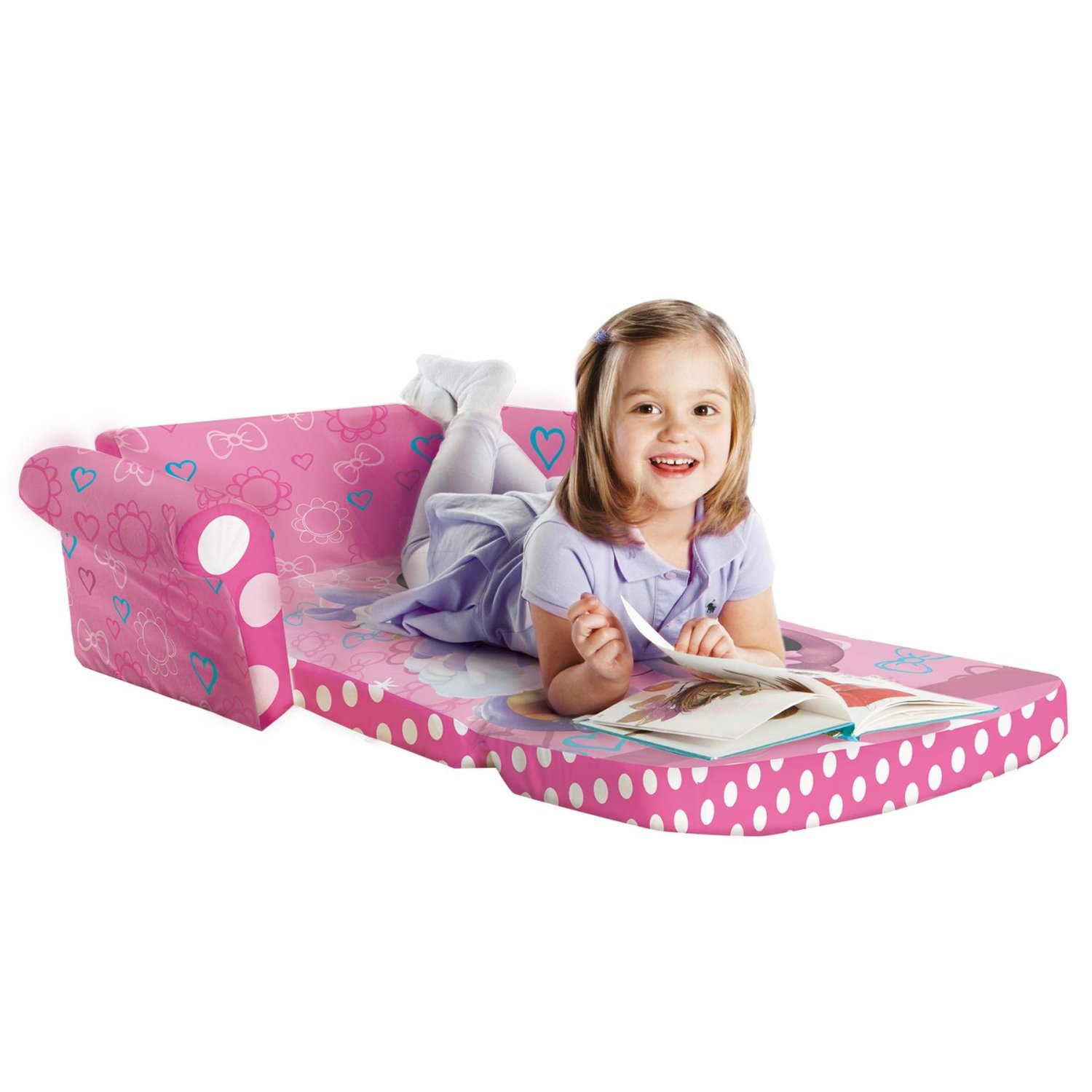 Pink Minnie Mouse Bow Tique Flip Down/Fold Out Sofa Bed