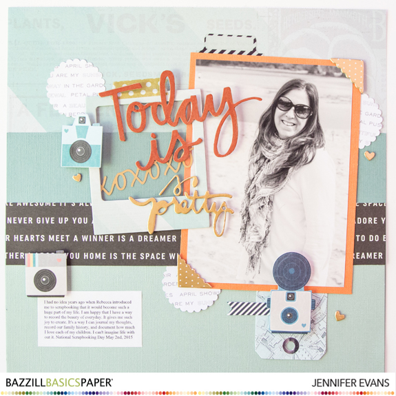 Document your everyday! A great message about why it is important to get you on your scrapbook page by @createoften for @bazzillbasics @pinkpaislee