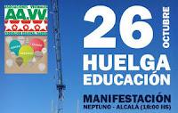 26 octubre Huelga Educación