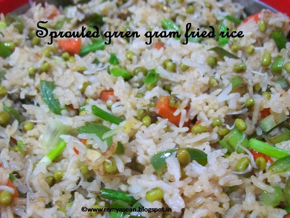 Sprouted green gram fried rice