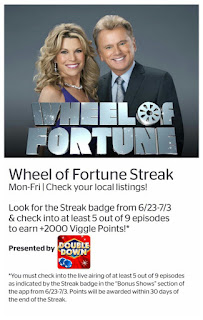 Wheel of Fortue, Double Down Casino, Viggle, Viggle Mom, Viggle Streak