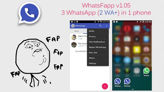 WhatsFapp 1.20 Use Three WhatsApp Accounts In One Phone Including Two WhatsApp+ Reborn