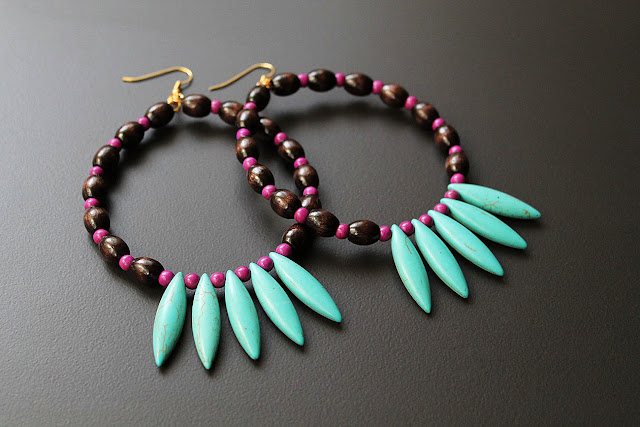 African Hoop Earrings