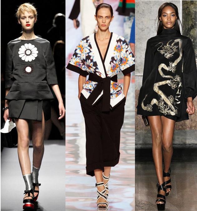 Spring 2013 Asian Influence Trend: Prada// Etro// Emilio Pucci
