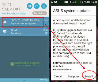 Instal Android KitKat 4.4.2 di Asus Zenfone 4