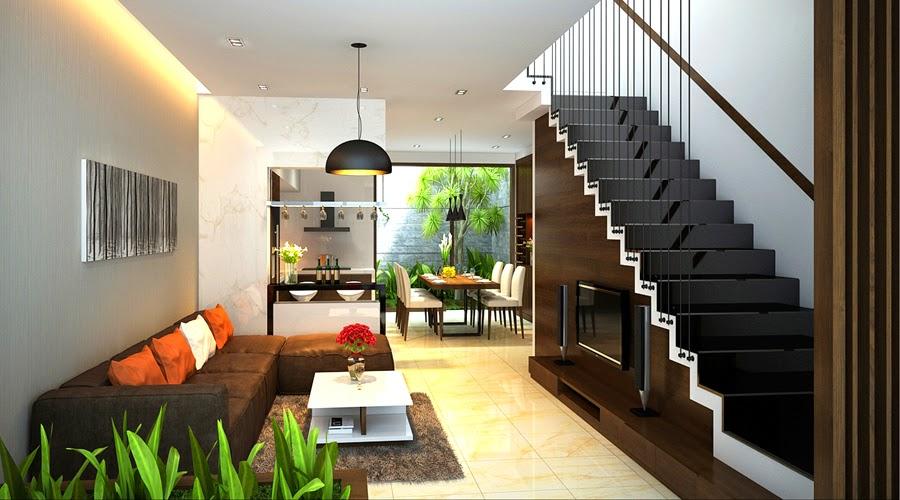 Phòng khách đẹp cho nhà phố hẹp