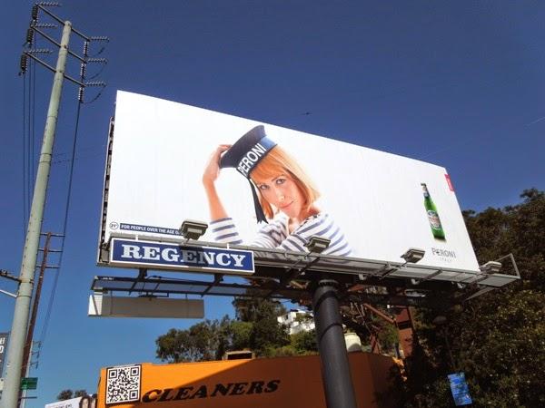 Peroni Nastro Azzurro sailor hat billboard 2014