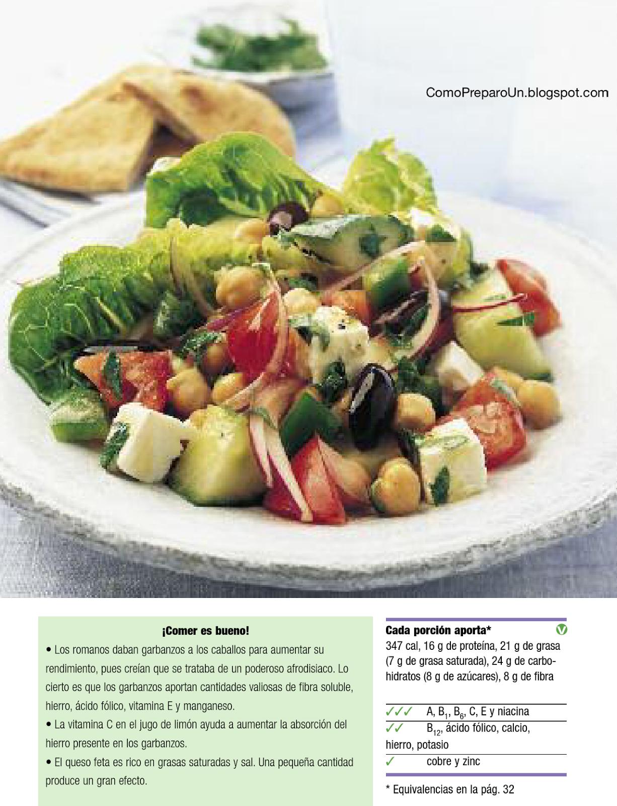 Recetas saludables con menos de 400 calorias ensalada de for Resetas para preparar comida