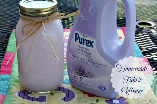 Today I want to share a easy recipe for Homemade Fabric Softener. This is another wonderful Pinterest idea, so I was so excited when I found it.