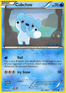 Cubchoo Plasma Storm Pokemon Card