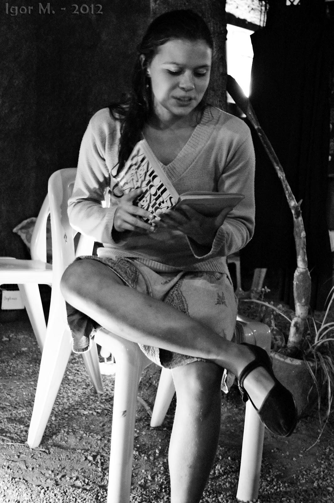 Alice Azevedo no Espaço Semear. Foto: Igor M.