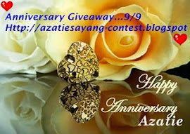 Anniversary Giveaway AzatieSayang (Pemenang Bertuah).