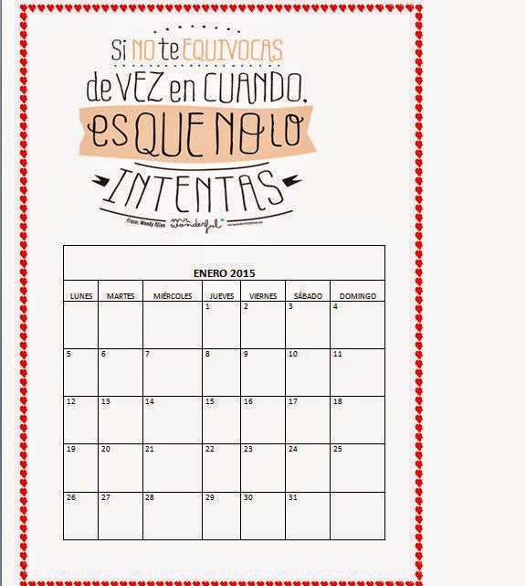 Capaz o incapaz: Calendario 2015- MR WONDERFUL