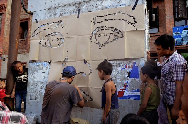 street art by stinkfish in nepal 13