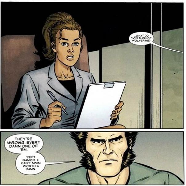 Que piensan los super héroes sobre Wolverine