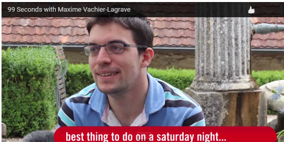 L'interview de 99 secondes de Maxime Vachier-Lagrave - Photo � site officiel
