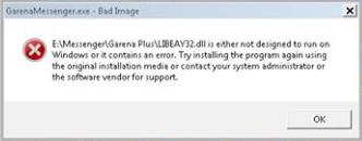 Cara Atasi Error LIBEAY32.dll di Garena Messenger PB Garena Indonesia