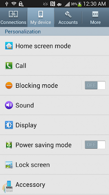 Samsung Galaxy S4 Screenshot