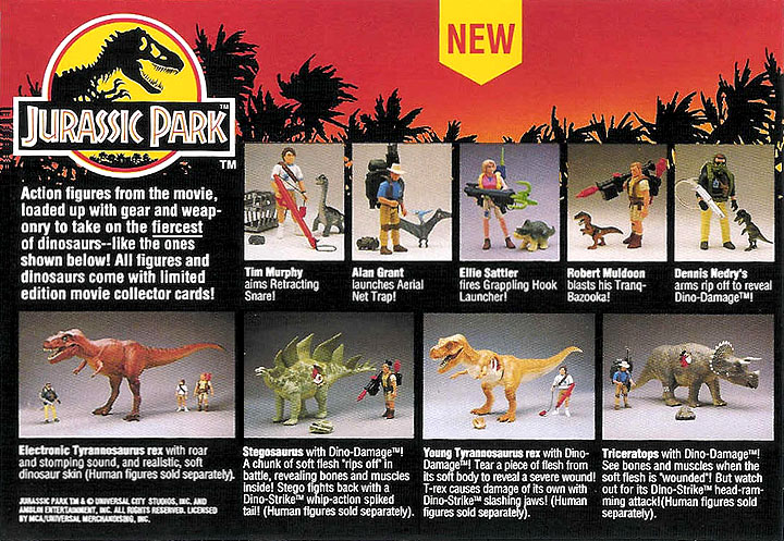 Lost Entertainment Toys Jurassic Park Action Figures And