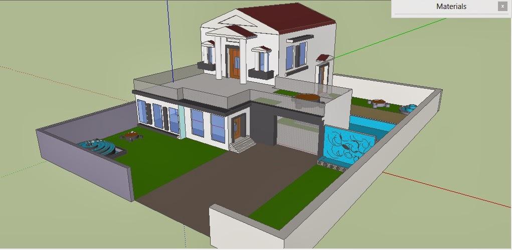 Desain Rumah Sederhana Menggunakan Sketchup