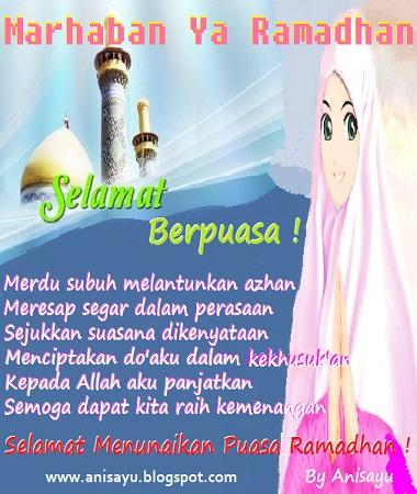 Puisi Pantun Ucapan Selamat Menunaikan Puasa Ramadhan